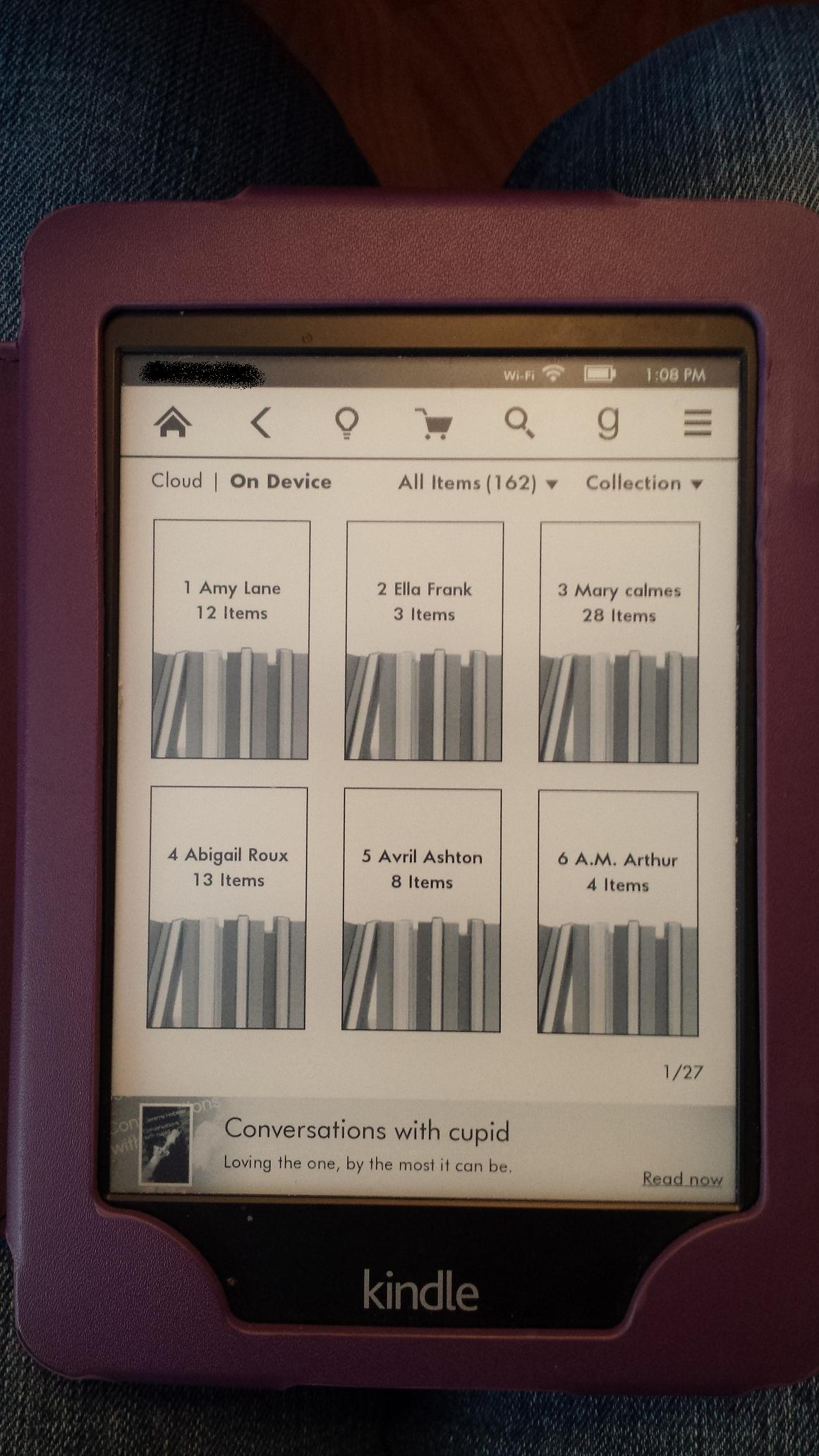 Love stories on my Kindle