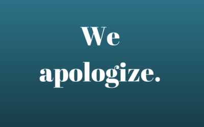 Sincere Apologies
